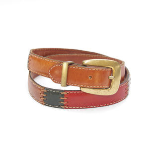 Fossil Accessories - Fossil Patchwork Leather Vintage Slim Belt